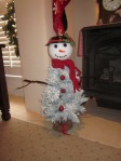 Saw this on Pinterest and decided the 5th grader's class submission to the tree silent auction needed to be a snowman!